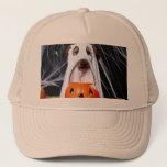 Ghost  dog - funny dog - dog halloween trucker hat