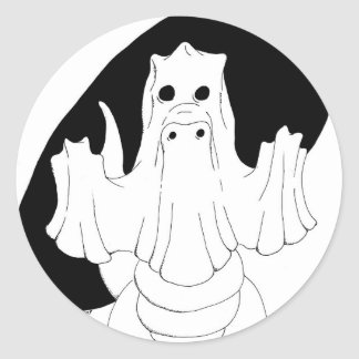 Ghost Dragon Classic Round Sticker