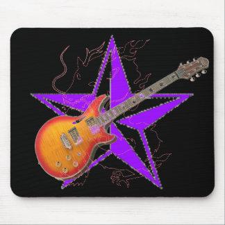 Ghost Dragon Purple Star Amber Guitar Mousepad