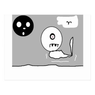 ghost drawin postcard