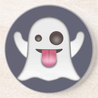 Ghost emoji drink coaster