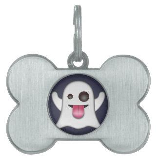 Ghost emoji pet name tag