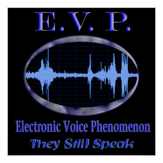 Ghost evp poster