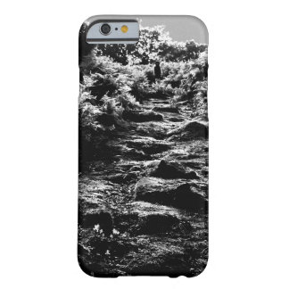 Ghost figure in forest iPhone case
