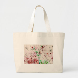Ghost Fox Eyes Abstract Art Red and White Bags