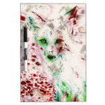 Ghost Fox Eyes Abstract Art Red and White Dry-Erase Whiteboards