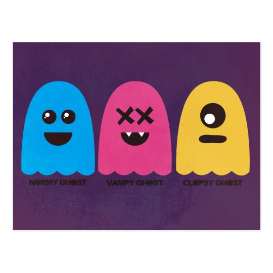 Ghost Friends Postcard