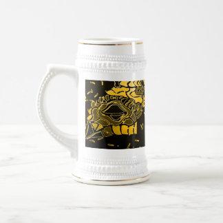 ghost frog anaranjado de oro jarra de cerveza