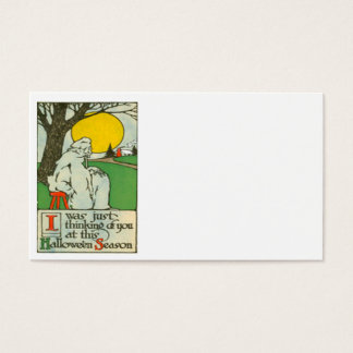 Ghost Full Moon Tree Business Card
