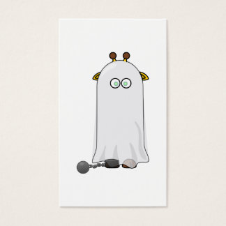 Ghost Giraffe with Chains Business Card