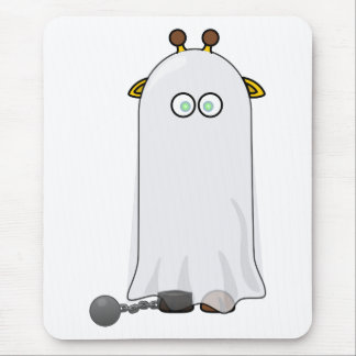 Ghost Giraffe with Chains Mouse Pad