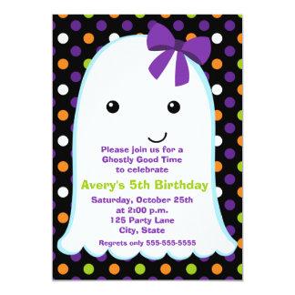 Ghost Girl Halloween | Kids Halloween Birthday Card