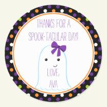 Ghost Girl Halloween Sticker Personalized Sticker