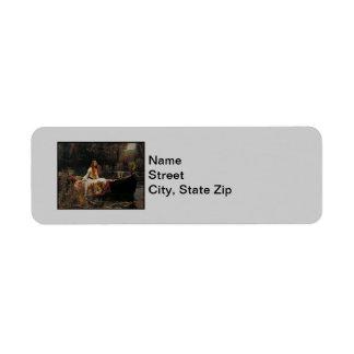 "Ghost Girl in the Lady of Shalott ""John Waterhouse Custom Return Address Label"