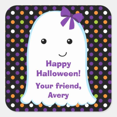 Ghost Girl  Kids Halloween Sticker