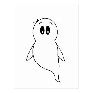 Ghost Gito the Penguin Postcard