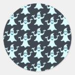 Ghost Glowing Dark Pattern Design Classic Round Sticker