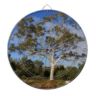 Ghost gum tree, Outback Australia Dartboard