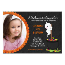 Ghost Halloween Birthday Card
