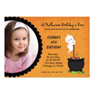 Ghost Halloween Birthday Personalized Invite