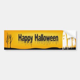 Ghost Halloween Bumper Sticker