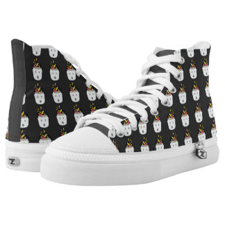Ghost Halloween Candy Pail High-Top Sneakers