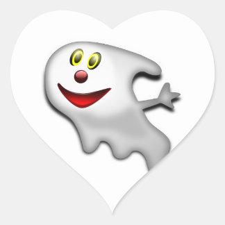 Ghost Halloween Image Heart Sticker