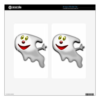 Ghost Halloween Image Kindle Fire Decal