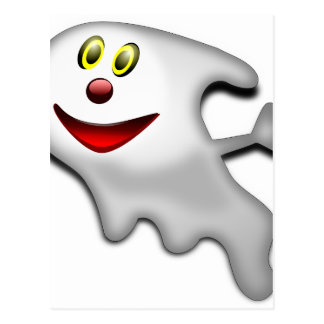 Ghost Halloween Image Postcard