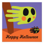 Hand shaped Ghost Halloween Invitation