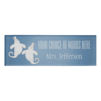 Ghost Halloween Name Tag