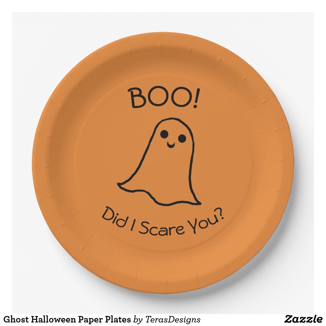 Ghost Halloween Paper Plates