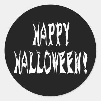 Ghost Halloween Text Classic Round Sticker