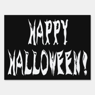 Ghost Halloween Text Sign