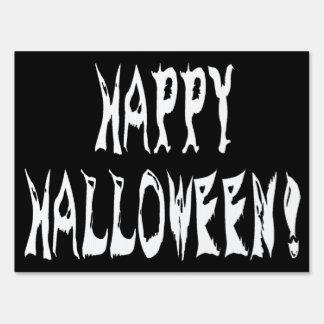 Ghost Halloween Text Yard Sign