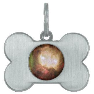 Ghost Head Nebula Space Pet Name Tag