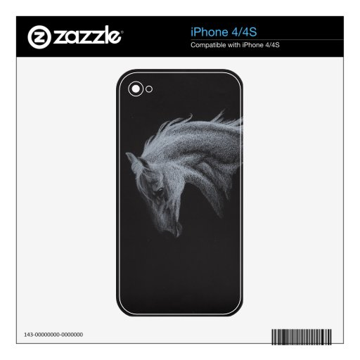 Ghost Horse Collection Decal For The iPhone 4S