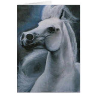 """""""Ghost Horse"""" equine card"""