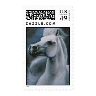 """Ghost Horse"" equine stamp"
