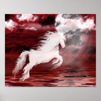 Ghost horse print
