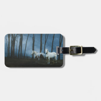 Ghost Horses at Dark Midnight Bag Tag