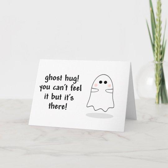 ghost hug customize card zazzle com