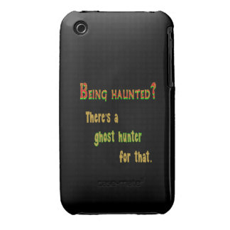 Ghost Hunter App For That (Black Background) iPhone 3 Cover