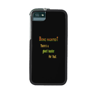Ghost Hunter App For That (Black Background) iPhone 5/5S Case