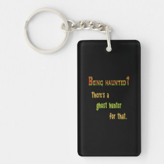 Ghost Hunter App For That (Black Background) Double-Sided Rectangular Acrylic Keychain