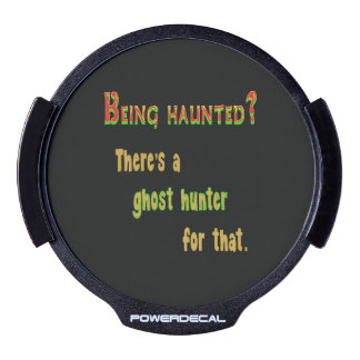 Ghost Hunter App For That (Black Background) LED Car Decal