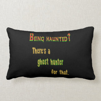 Ghost Hunter App For That (Black Background) Throw Pillow