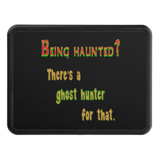 Ghost Hunter App For That (Black Background) Trailer Hitch Cover