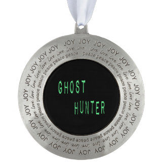 Ghost Hunter - Black Background Ornament