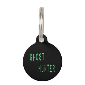 Ghost Hunter - Black Background Pet ID Tag